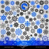 77 punten - Kerstmis en Nieuwjaar creatieve sneeuwvlokken en sterren Royalty-vrije Stock Afbeeldingen