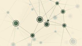 Punten van dynamisch netwerk Conceptuele motieachtergrond royalty-vrije illustratie