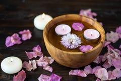 Punten voor aromatherapy, massage Ontspan en kuuroordthema royalty-vrije stock foto's