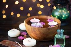 Punten voor aromatherapy, massage Ontspan en kuuroordthema stock foto's