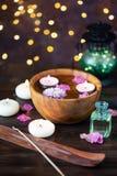 Punten voor aromatherapy, massage Ontspan en kuuroordthema stock foto