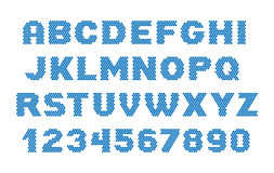 Puntendoopvont Letters en getallen Royalty-vrije Stock Afbeelding