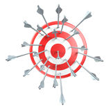 Puntería, blanco, flechas libre illustration