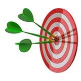 Puntería con las flechas en el centro 3d Imagen de archivo
