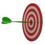 Puntería roja y flecha 3d de la blanco de los dardos libre illustration