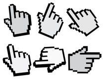 puntero de la mano 3d Imagen de archivo