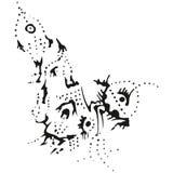 Puntero estilizado abstracto de la sublevación de B&W Fotografía de archivo libre de regalías