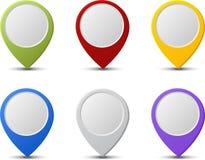 Punteros del mapa Foto de archivo libre de regalías