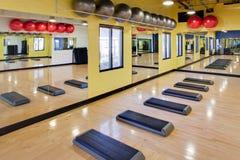 Punti aerobici in ginnastica Immagini Stock