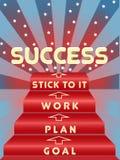 Punti all'immagine di successo Immagini Stock Libere da Diritti