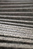 Punti ascendenti grigi confusi Immagine Stock