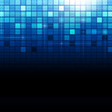 Punti blu del quadrato di tecnologia Immagini Stock