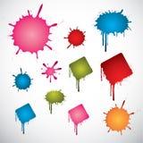 Punti colorati dell'inchiostro Immagine Stock Libera da Diritti