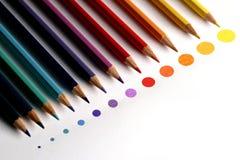 Punti colorati della matita Fotografia Stock Libera da Diritti