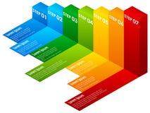 Punti Colourful di un Infographic royalty illustrazione gratis