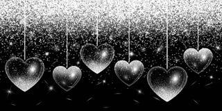 Punti culminanti dell'argento del cuore Immagini Stock