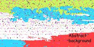 Punti dei coriandoli su un fondo a strisce illustrazione vettoriale