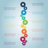 Punti 2 del dente di Infographic Fotografia Stock Libera da Diritti