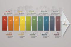 10 punti del modello di Infografics della freccia Per la vostra presentazione ENV 10 royalty illustrazione gratis