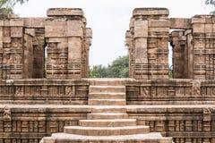 Punti del tempio in Konark immagine stock libera da diritti
