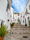 Punti del villaggio andaluso, Frigiliana immagine stock