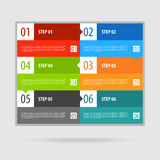 Punti dell'insegna di opzioni di Infographics fissati Fotografia Stock Libera da Diritti