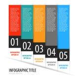 Punti dell'insegna di opzioni di Infographics fissati con le icone Immagine Stock