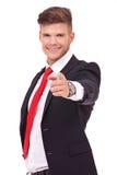 Punti dell'uomo di affari voi Fotografia Stock Libera da Diritti