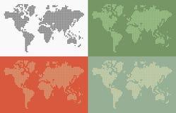 Punti della mappa di mondo Fotografie Stock