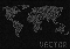 Punti della mappa di mondo Fotografia Stock