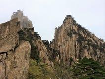 Punti della montagna di Huangshan Fotografie Stock
