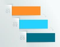 Punti 1 - della nota della carta di vettore di Infographic modello 3 illustrazione di stock