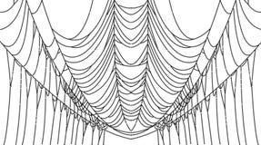 Punti della ragnatela su bianco, illustrazione di vettore Royalty Illustrazione gratis