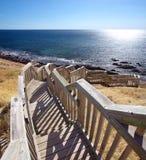 Punti della spiaggia della baia di Hallett fotografia stock