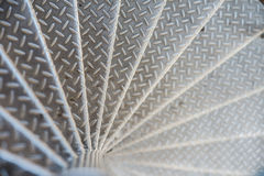 Punti di alluminio con il modello antisdrucciolevole Immagine Stock Libera da Diritti