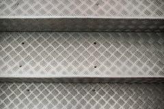 Punti di alluminio con il modello antisdrucciolevole Fotografia Stock Libera da Diritti