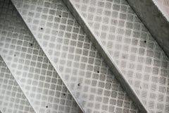 Punti di alluminio con il modello antisdrucciolevole Fotografie Stock