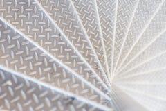 Punti di alluminio con il modello antisdrucciolevole Immagine Stock