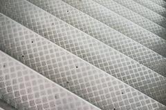 Punti di alluminio con il modello antisdrucciolevole Fotografia Stock