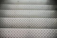 Punti di alluminio con il modello antisdrucciolevole Fotografie Stock Libere da Diritti