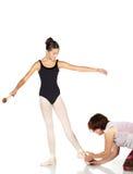 Punti di balletto fotografia stock
