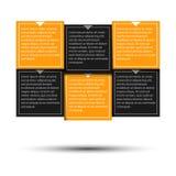 Punti di carta di progresso per l'esercitazione Illustrazione Vettoriale