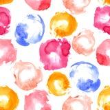 Punti di colore dell'acquerello Fotografie Stock Libere da Diritti