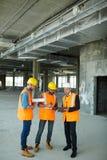 Punti di controllo con l'ispettore della costruzione Immagine Stock