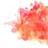 Punti di corallo rossi dell'acquerello dell'estratto per fondo illustrazione di stock