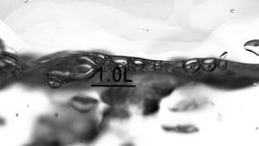 Punti di ebollizione dell'acqua Priorità bassa bianca Primo piano archivi video