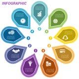 Punti di Infographic sistemati nel cerchio nove Immagine Stock Libera da Diritti