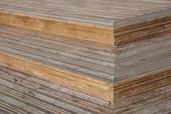 Punti di legno della scala della plancia Fine in su immagini stock libere da diritti