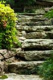 Punti di pietra giapponesi del giardino Immagini Stock Libere da Diritti