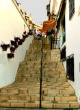 Punti di pietra a Mijas, Spagna Fotografie Stock Libere da Diritti